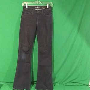 7 for all mankind sz 24 high waist bootcut jeans